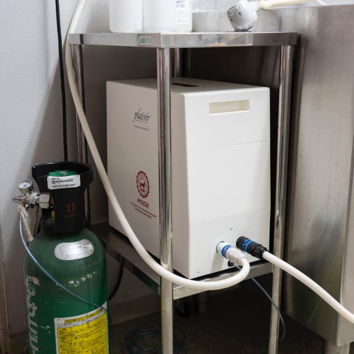 高濃度炭酸泉シャワー装置