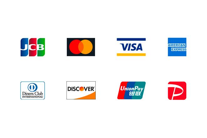 使用できるクレジットカードと電子決済サービス一覧